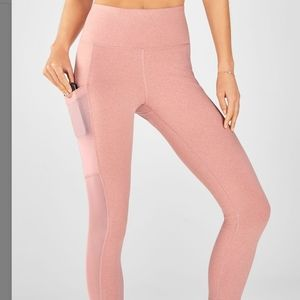 NWT Fabletics pink crop legging